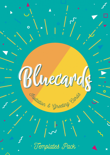 Bluecards, Invitation and Greeting Cards Templates Pack By Clabii on Pagephilia