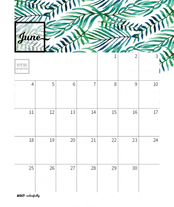 Colorfully Desktop Calendar Template – 2017-colorfully-calendar-template12