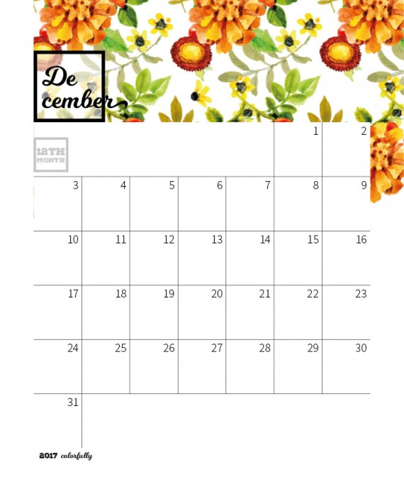 Colorfully Desktop Calendar Template – 2017-colorfully-calendar-template24