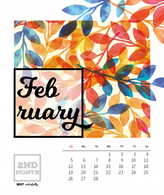 Colorfully Desktop Calendar Template – 2017-colorfully-calendar-template5