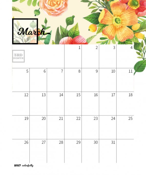 Colorfully Desktop Calendar Template – 2017-colorfully-calendar-template6