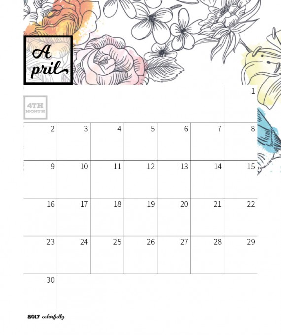 Colorfully Desktop Calendar Template – 2017-colorfully-calendar-template8