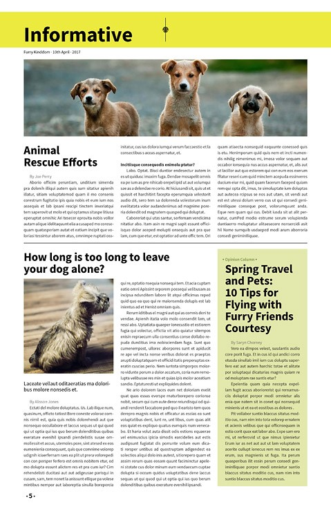 Furry Kingdom, Newspaper Template – furry-kingdom-newspaper4