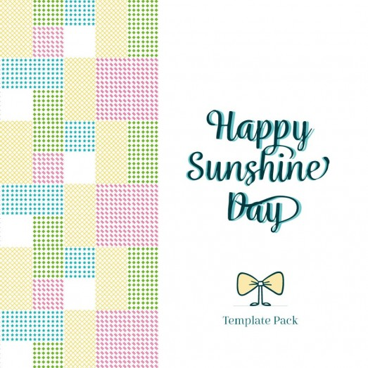 Happy Sunshine Day Template Pack By Clabii on Pagephilia