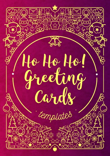 Ho Ho Ho! Greeting Cards Templates By Clabii on Pagephilia