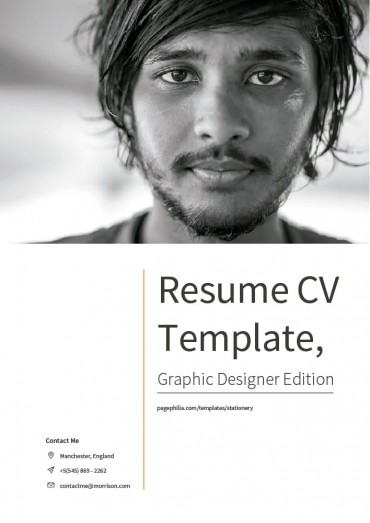 Resume CV Template, Graphic Designer Edition By Clabii on Pagephilia