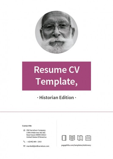 Resume CV Template, Historian Edition By Clabii on Pagephilia