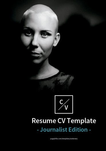 Resume CV Template, Journalist Edition By Clabii on Pagephilia