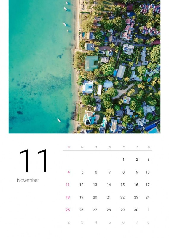 Sea Water, Plantilla de Calendario – sea-water-calendar-template-clabii-12