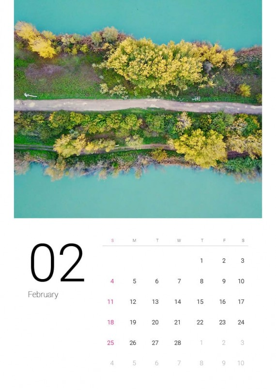 Sea Water, Plantilla de Calendario – sea-water-calendar-template-clabii-3