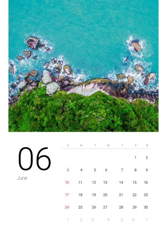 Sea Water, Plantilla de Calendario – sea-water-calendar-template-clabii-7