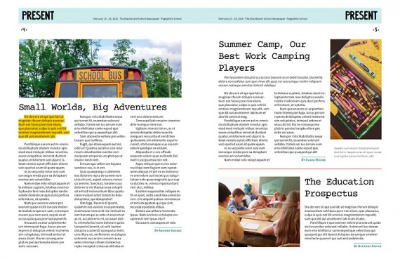The Blackboard, School Newspaper Template U2013 The Blackboard School Newspaper  Template