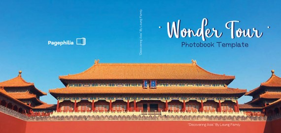 Wonder Tour, Plantilla de Álbum de Fotos – wonder-tour-photobook-template-clabii-preview-01