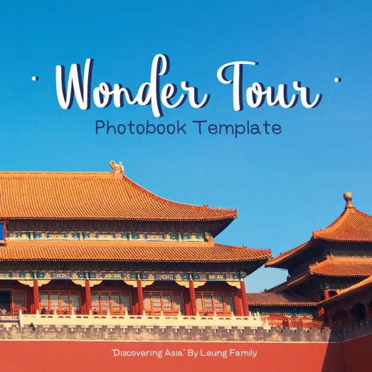 Wonder Tour, Photobook Template By Clabii on Pagephilia