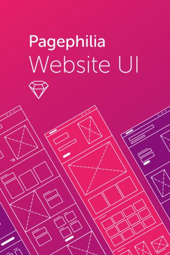 Pagephilia Website UI Kit Template By Fenixkim on Pagephilia