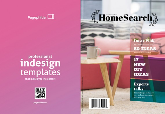 Homesearch, Plantilla de Revista Para InDesign – homesearch-magazine-template1
