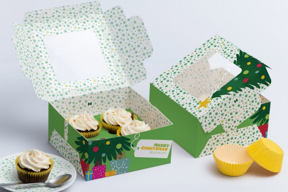 Christmas Packaging Vector Designs (Pack-Man Edition) – four-cupcake-box-mockup-01