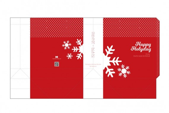 Christmas Packaging Vector Designs (Pack-Man Edition) – shopping-bag-mockup-5-blueprint