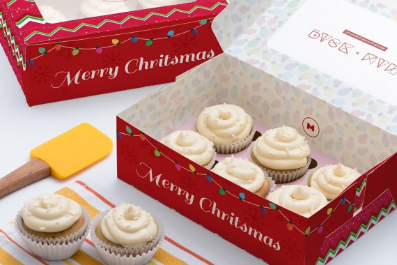 Christmas Packaging Vector Designs (Pack-Man Edition) – six-cupcake-box-mockup-01