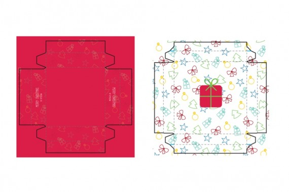 Christmas Packaging Vector Designs (Pack-Man Edition) – small-gift-box-mockup-blueprint