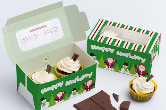 Christmas Packaging Vector Designs (Pack-Man Edition) – two-cupcake-box-mockup-01