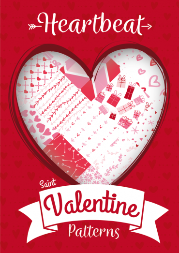 Heartbeat, Seamless Vector Patterns for Saint Valentine's Day By Ktyellow on Pagephilia