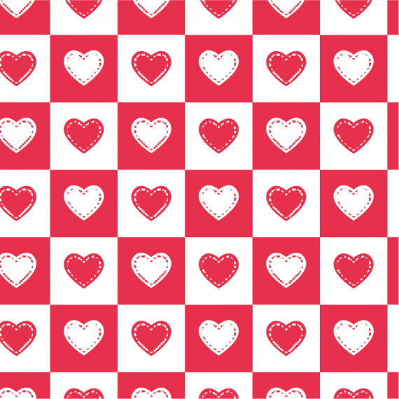 Heartbeat, Seamless Vector Patterns for Saint Valentine's Day – heartbeat-pattern-for-saint-valentines-day-ktyellow-19
