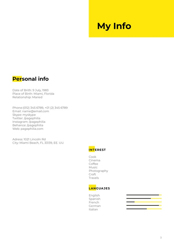 I'm, Resume CV Template – im-resume-cv-template-3