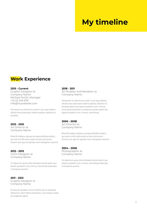 I'm, Resume CV Template – im-resume-cv-template-5