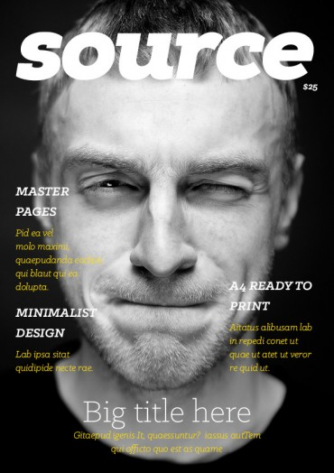Source Magazine Template By Ktyellow on Pagephilia