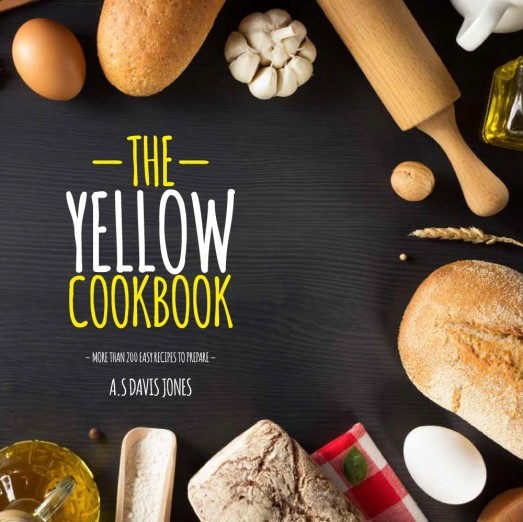 Yellow Cookbook, Plantilla de un Recetario de Repostería By Ktyellow on Pagephilia