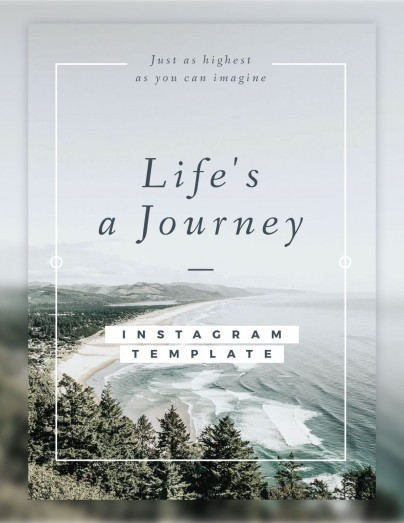 Life's a Journey Instagram Template By Luz Viera  (Suriblossom) on Pagephilia