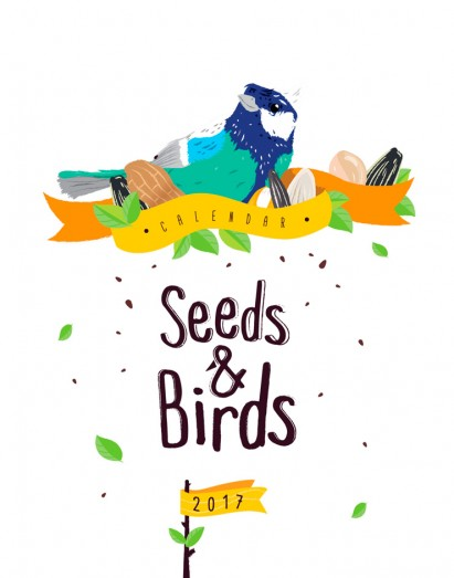 Seeds and Birds Calendar Template By Luz Viera  (Suriblossom) on Pagephilia