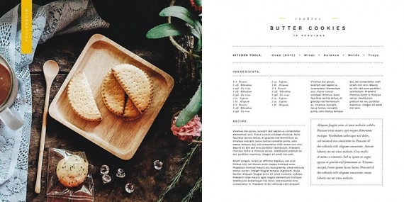 Simple Life Free Cookbook Template For Indesign  Pagephilia
