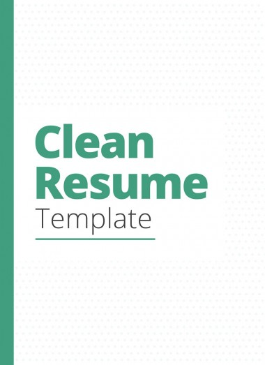 Clean Resume CV Template By Toniopadilla on Pagephilia